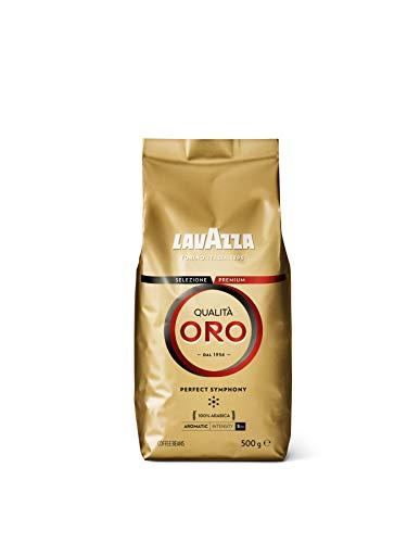 Lavazza Café en Grano Espresso Qualità Oro, 100% Arábica, 500 g
