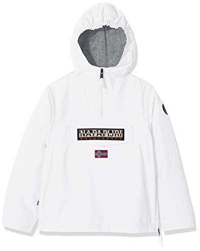 Napapijri rainforest winter jacket, giacca con cappuccio bambino, bianco (bright white 002), 152 cm (taglia produttore: 12) bambino