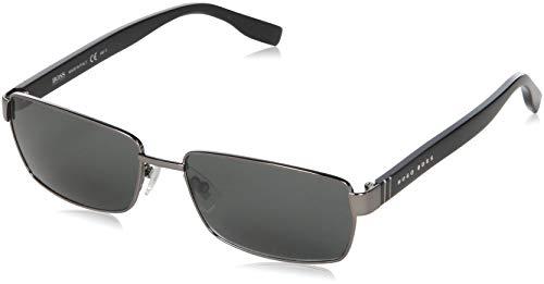 BOSS Hugo Herren 0475/S P9 V81 Sonnenbrille, Schwarz (Dkruth Black/Grey), 58