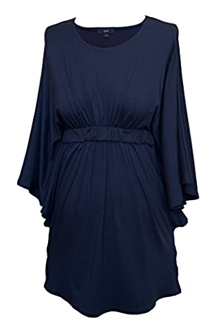 Maternity Top by Picchu, Empire line tunic style with butterfly sleeves, wear it from 0 - 9 months and after. (12, Navy