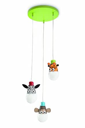 Philips zoo suspension luminaire pour enfant m tal - Amazon luminaire suspension ...