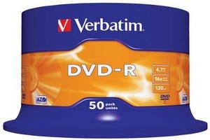 Confezione da 50 dvd-r verbatim 16x 4.7gb 120min (400) pezzi