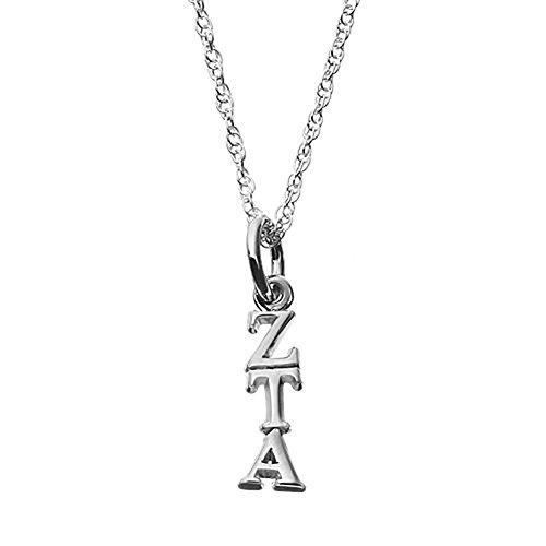 Lex & LU logoart Sterling Silber 5/20,3cm Zeta Tau Alpha Buchstaben Anhänger auf Kette