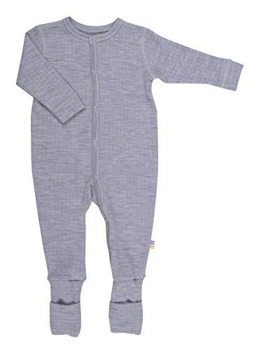 Joha Baby Unisex Schlafoverall aus Reiner Merino-Wolle, Größe:98-104, Farbe:grau Melange