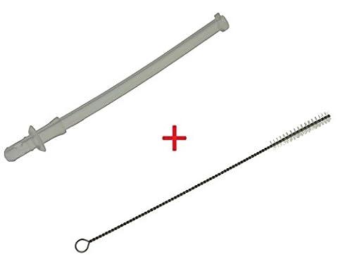 DeLonghi 5313235381 Milchansaugrohr + Piebert Reinigungsbürste (8mm.) für EN750 Lattissima Pro
