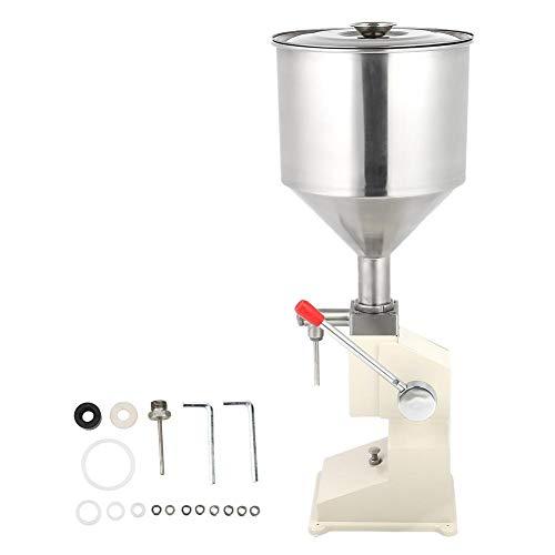 Semme Flüssige Füllmaschine Handdruck Edelstahl Manuelle Füllmaschine für Cremeshampoo Kosmetik Abfüller -