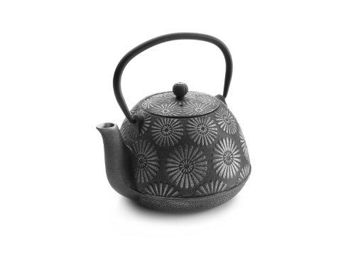 IBILI Teekanne-Set Oriental-Bali 1,2 l aus Gusseisen, grau, 18 x 18 x 10 cm, 3-Einheiten (Teekanne Herd)