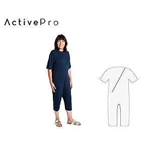 Pflegeoverall für Männer und Frauen; relax kurz mit Bein- und Rückenreißverschluss; Demenz Overall; ActivePro