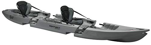 Unbekannt point65Tequila Tandem Sit on Top Kayak Canoa Dos Kayak Fácil Transporte, Gris