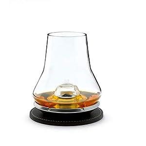 Peugeot 266097 Whisky Degustations Set Glas, Untersetzer, kühlender Metallsockel