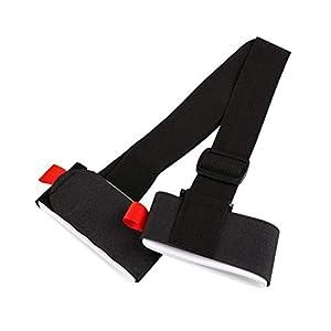 VORCOOL Einstellbare Ski Strap Snowboard Sking Schulter Hand Handle Straps Bindung Schutz Krawatte (Schwarz)