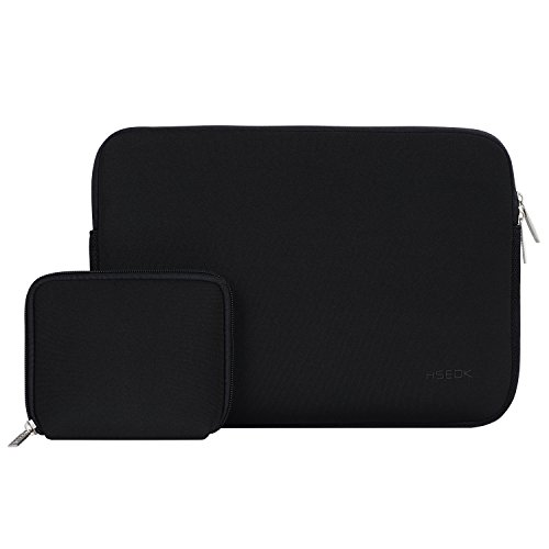 Hseok Custodia Laptop, Sleeve Laptop, Custodia Laptop 11,6 pollici in Neoprene Impermeabile con Custodia Morbida Piccola per Laptop Accessori, Notebook,Dell Chromebook 11, Lenovo flex,HP ProBook, Nero
