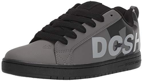 DC Herren Court Graffik SE Black/Grey, 40 EU M - Mens Court Graffik Skate Schuhe