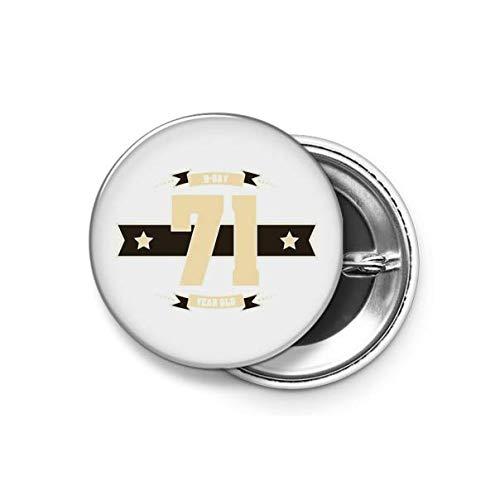 Shopsmeade® B-Day 71 (Cream&Choco) Round Pin Button Badge