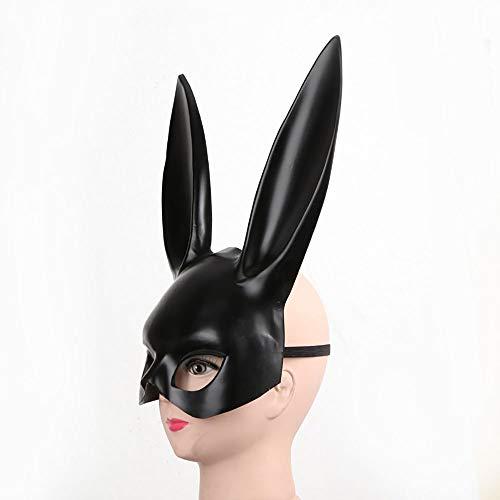 ZYHA Halloween Weihnachtsmaske Bunny Ohrmaske Bunny Maske Bar KTV Nightclub Halloween - Männlich Bunny Kostüm