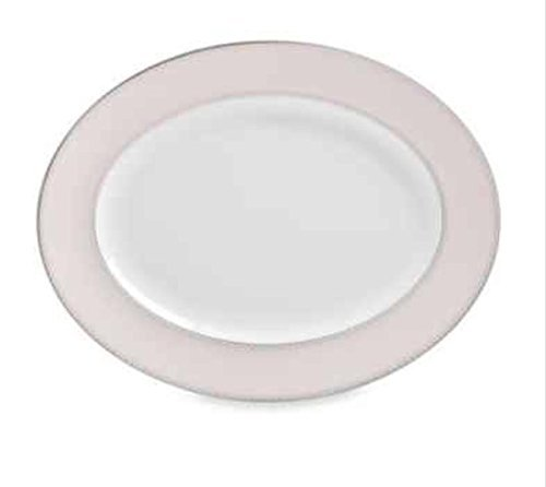 Dentelle Blush Oval Platter by Waterford -