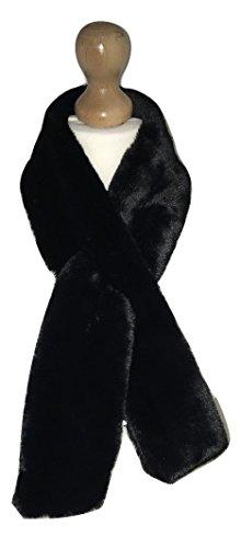 new-ladies-women-small-winter-faux-fur-collar-scraf-black