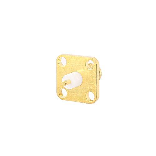 Sourcingmap® Metall Buchse SMA Jack zu 4-Loch Flansch Platte Montage Koaxial HF Anschluss de