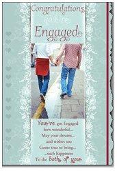 Congratulations on your engagement Stecker Paar SS90-204 (Paar Cardigan)