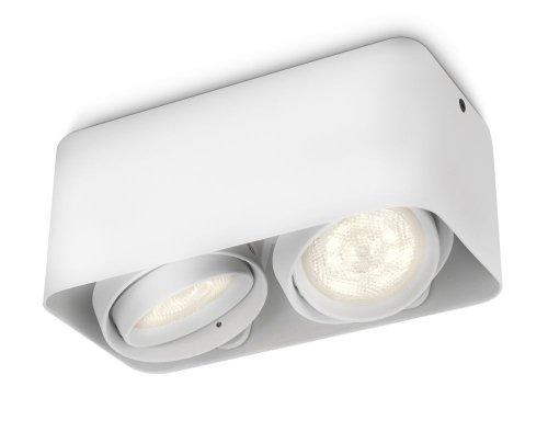 Philips myLiving Afzelia - Foco de techo, LED, 2 luces, iluminación interior,...