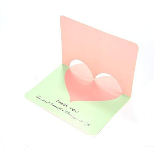 Susens Cute Love Heart Grußkarte mit Herz-Motiv, blanko, für alle Anlässe, Weihnachten, Thanksgiving, Jahrestag, Valentinstag Geschenkkarte