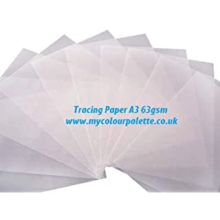 Gateway 63 g/m² Format A3 Papier calque Naturel Transparent, Lot de 50–Transparent