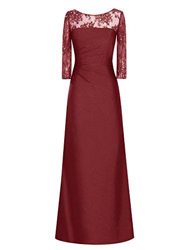 Dresstells, Robe longue de demoiselle d'honneur Robe de soirée Robe de cérémonie Tenue de mariage Bordeaux