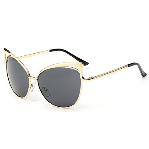 Z-P Women's Geek Fashion New Style Cat Eye Metal Frame Soft Colour Lens Optical Anti-UV Sunglasses UV400 (Hippie Design Cat)