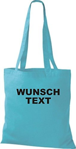 tessuto sacchetto con testo o logo stampato Celeste