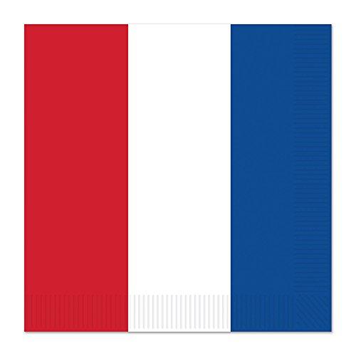 Beistle 58226Servietten, rot/weiß/blau
