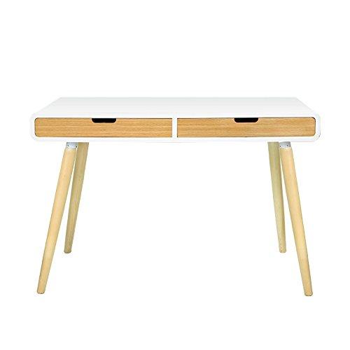 Konsolentisch mit 2 Schubladen Weiß Schreibtisch Anneke Konsole Tisch Bürotisch
