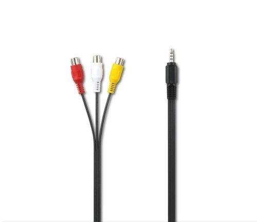 Philips PicoPix Adaptador de audio/vídeo PPA1320/000 - cables de vídeo compuesto (0,3 m, 3 x RCA, Negro, Macho/hembra, 2x RCA, 30 g)