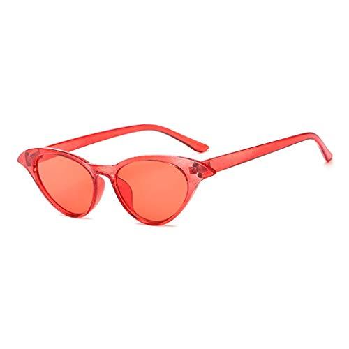 Cat Eye Sonnenbrillen Sonnenbrillen Trend Retro Männer und Frauen Sonnenbrillen Metall Scharnier Gläser (Color : E) - Metall-scharnier Linke Seite