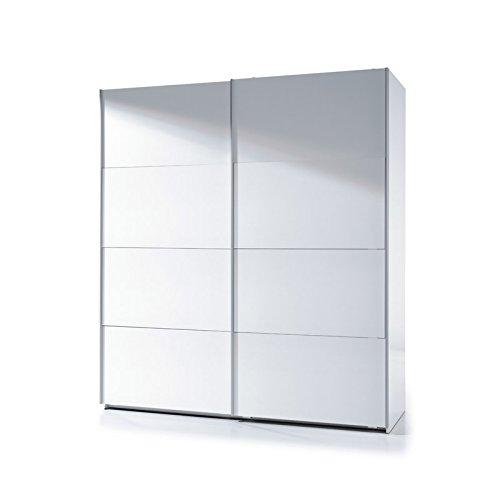 Habitdesign ARC180BO - Armario dos puertas correderas, color Blanco Brillo, dimensiones 200cm (alto) x 180cm (ancho) x 63cm (fondo)