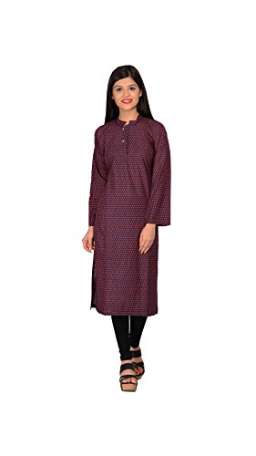 Nakoda Multicoloured Cotton Self print Straight Kurti  available at amazon for Rs.149