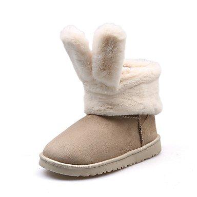 RTRY Scarpe Da Donna In Pelle Scamosciata Autunno Inverno Lanugine Fodera Comfort Novità Snow Boots Fashion Stivali Stivali Tacco Piatto Round Toe Stivaletti/Stivaletti Per US8.5 / EU39 / UK6.5 / CN40