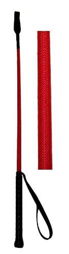 Reitgerte mit Klatsche in rot, 65 cm