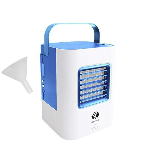 Mobile Klimaanlage, Tragbare Klimageräte Ventilator Luftbefeuchter Luftreiniger USB Mini Persönlicher Luftkühler Stumm LED für Home Office Draussen (Blau)