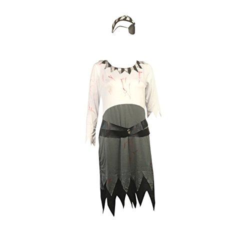 (Emmas Garderobe Zombie-Piraten-Kostüm Frauen - Karibik Buccaneer Outfit - UK Größe 8-14 (Women: 36, Pirate))