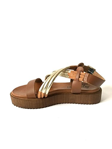 Sandali in pelle suola platform artigianali cuoio nero argento MainApps Cuoio