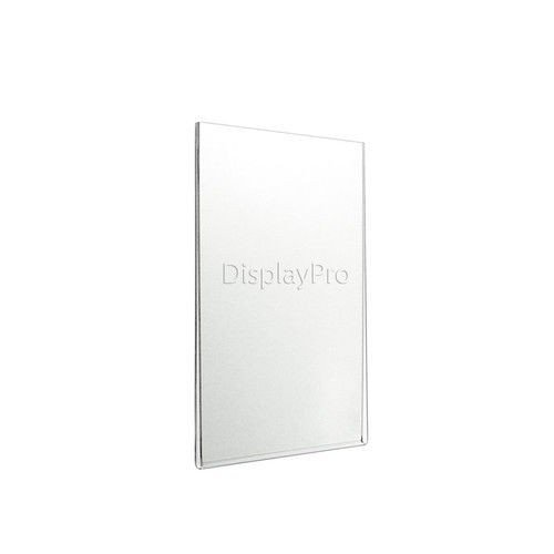 Displaypro - Expositor acrílico de pared para carteles, sin bordes, 5 unidades, A4