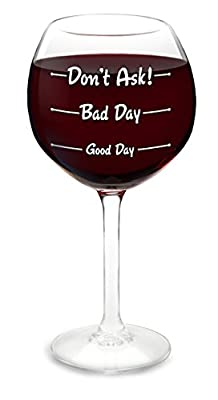 "BigMouth Inc ""How Was Your Day?"" Wine Glass"