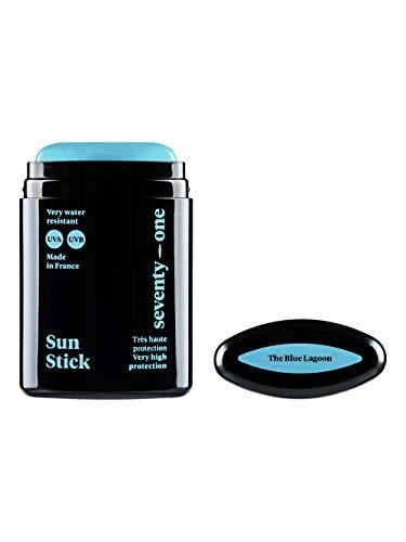 SEVENTY ONE PERCENT - Stick Solaire SUN STICK - SPF 50+ - Sehr Hoher Schutz - Gesicht und empfindliche Bereiche - 10 gr - The Deep Blue - Blau