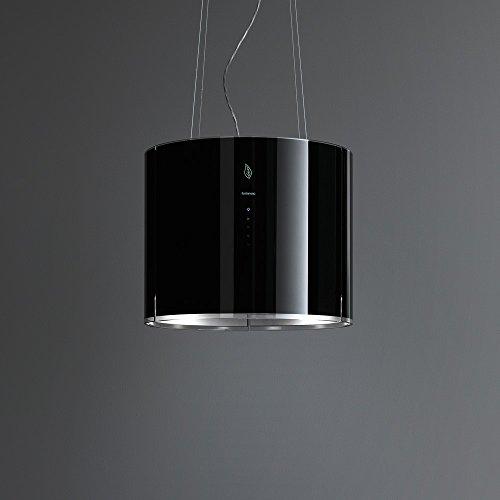 Falmec Eolo E.ion Dunstabzugahaube, Inselhaube, schwarz, 450 m³/h, Umluft, 56 dB, 65 dB, Insel, Schwarz)