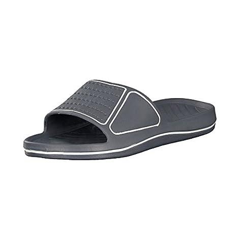 Sandales de bain homme| Chaussures de piscine et plage pour homme| Couleurs: Noir/rouge - Pointure: 40 de Brandsseller