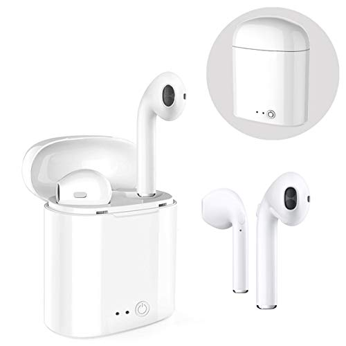 Wireless earbuds, Bluetooth headset, mini in-ear headphones, sports headphones with 2 wireless earbuds and charging box, mini stereo in-ear headphones, TWS headset, with noise-canceling microphone for all Bluetooth devices