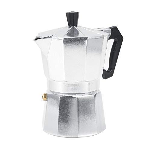 Bewinner Moka Express Espressokocher, 3/6/9/12 Cup Aluminium Espresso Maker Pot Herd Kaffeemaschine Kaffee Mokka Espresso Herd für Office Home Restaurant Cafe (150ML) -
