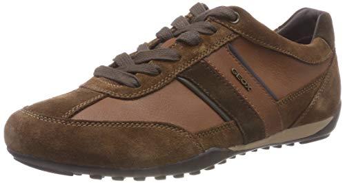 Geox Herren U Wells C Sneaker ,Braun (Browncotto C6003) ,42 EU (Braune Leder Herren Schuhe)