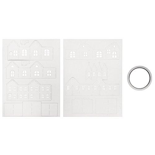 Rayher Papierbausatz Lichterdorf, Diverse, Braun, 3.4 x 2.2 x 0.04 cm