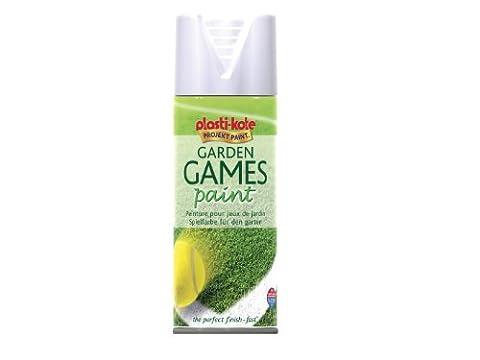 Plasti-kote 4376 400ml Garden Games Spray Paint - White